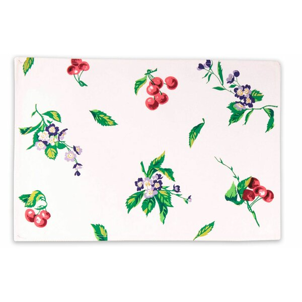 Blossoms Screen 100% Cotton 18 Placemat (Set of 6) by Traders and Company
